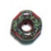 Glass Cut Crowbead 9mm Red